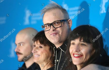 Canadian Director Denis Cote (2-r) Poses with Canadian Actors Marc-andre Grondin (l) Pierrette Robitaille and French Actress Romane Bohringer (r) at a Photocall For the Movie 'Vic+flo Saw a Bear' ('vic+flo Ont Vu Un Ours') During the 63rd Annual Berlin International Film Festival in Berlin Germany 10 February 2013 the Movie is Presented in Competition at the Berlinale Germany Berlin