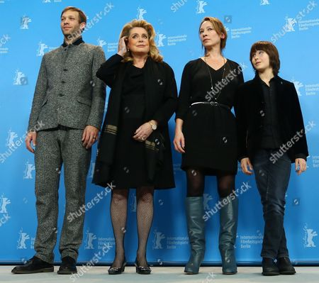 (l-r) Actors Paul Hamy Catherine Deneuve Director Emmanuelle Bercot and Actor Nemo Schiffman Attend the Photocall of 'On My Way' ('elle S'en Va') During the 63rd Annual Berlin International Film Festival in Berlin Germany 15 February 2013 the Movie is Presented in Competition at the Berlinale Germany Berlin