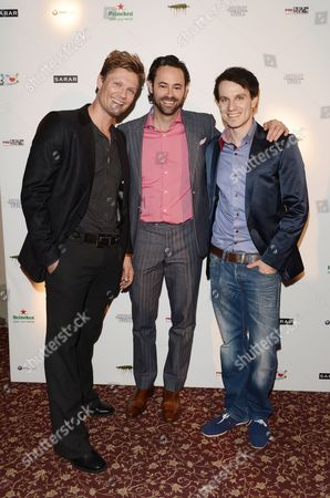 (l-r) German Model Avon Kettner Us Actor James Wirt and German Actor Marc Dumitru Attend the Poverty Row Entertainment Party During the 63rd Annual Berlin International Film Festival in Berlin Germany 11 February 2013 at the Grand' the Berlinale Runs From 07 to 17 February Germany Berlin