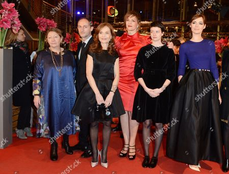 French Actress Francoise Lebrun (l-r) French Director Guillaume Nicloux French Actress Isabelle Huppert German Actress Martina Gedeck Belgian Actress Pauline Etienne and French Actress Louise Bourgoin Arrive For the Premiere of 'The Nun' ('la Religieuse') During the 63rd Annual Berlin International Film Festival in Berlin Germany 10 February 2013 the Movie is Presented in Competition at the Berlinale Germany Berlin