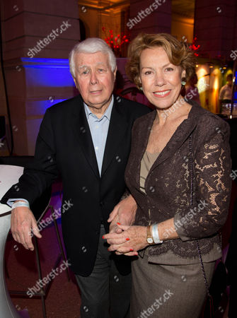 The Actors Peter Weck and Gaby Dohm Attend the Reception 'Blue Hour' During the 63rd Annual Berlin International Film Festival Poses in Berlin Germany 08 February 2013 the Berlinale Runs From 07 to 17 February Germany Berlin