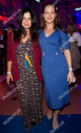 Actresses Anna Fischer (l) and Yvonne Catterfeld Attend the Reception 'Blue Hour' During the 63rd Annual Berlin International Film Festival Poses in Berlin Germany 08 February 2013 the Berlinale Runs From 07 to 17 February Germany Berlin