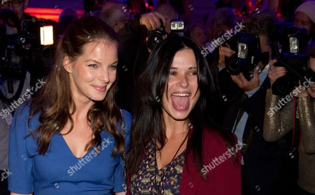 Actresses Yvonne Catterfeld (l) and Anna Fischer Attend the Reception 'Blue Hour' During the 63rd Annual Berlin International Film Festival Poses in Berlin Germany 08 February 2013 the Berlinale Runs From 07 to 17 February Germany Berlin