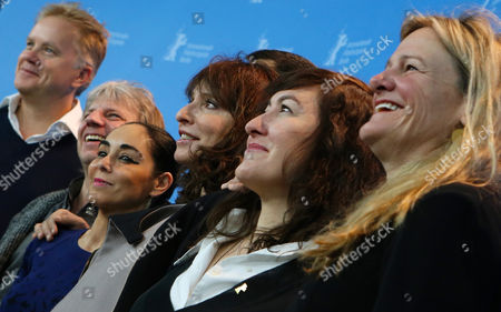 The International Jury with (l-r) Actor Tim Robbins (usa) Director Andreas Dresen (germany) Director Shirin Neshat (iran) Director Susanne Bier (denmark) Director Athina Rachel Tsangari (greece) and Cinematographer Ellen Kuras (usa) Pose at a Photocall During the 63rd Annual Berlin International Film Festival in Berlin Germany 07 February 2013 the Berlinale Runs From 07 to 17 February Germany Berlin
