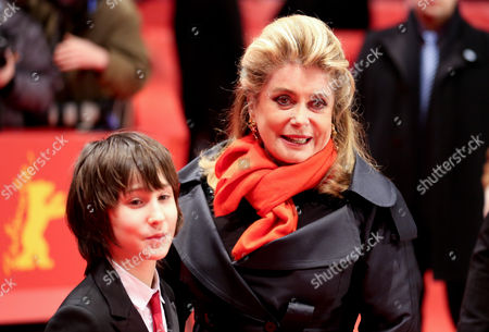 French Actress Catherine Deneuve Arrives with Actor Nemo Schiffman at the Premiere For 'On My Way' ('elle S'en Va') During the 63rd Annual Berlin International Film Festival in Berlin Germany 15 February 2013 the Movie is Presented in Competition at the Berlinale Germany Berlin