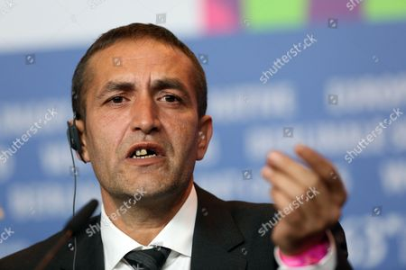 Bosnian Actor Nazif Mujic Speaks During a Press Conference After Winning the Silver Bear Award For Best Actor For His Performance in the Movie 'Epizoda U Zivotu Beraca Zeljeza' (an Episode in the Life of an Iron Picker) at the Closing Ceremony of the 63rd Annual Berlin International Film Festival in Berlin Germany 16 February 2013 the Berlinale Runs From 07 to 17 February Germany Berlin