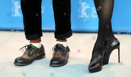 A View of the Shoes of Chinese Actors Tony Leung Chiu Wai (l) Und Zhang Ziyi (r) at the Photocall For 'The Grandmaster' (yi Dai Zong Shi) During the 63rd Annual Berlin International Film Festival in Berlin Germany 07 February 2013 the Movie Has Been Selected As the Opening Film For the Berlinale and is Running in the Offical Section out of Competion the Film Festival Runs From 07 to 17 February Germany Berlin