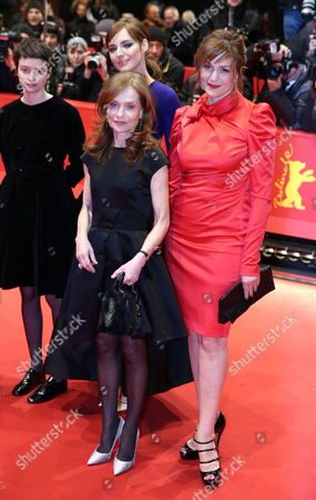 Belgian Actress Pauline Etienne (l-r) French Actress Louise Bourgoin (back) French Actress Isabelle Huppert and German Actress Martina Gedeck Arrive For the Premiere of the Movie 'The Nun' ('la Religieuse') During the 63rd Annual Berlin International Film Festival in Berlin Germany 10 February 2013 the Movie is Presented in Competition at the Berlinale Germany Berlin