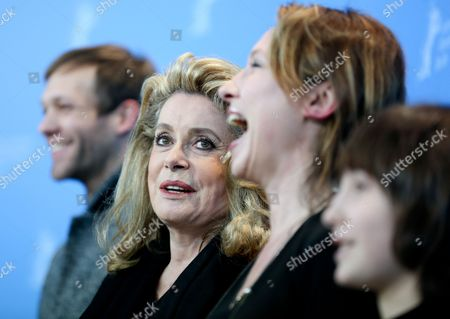 Actors Paul Hamy (l-r) Catherine Deneuve Director Emmanuelle Bercot and Actor Nemo Schiffman Attend the Photocall For 'On My Way' (elle S'en Va) During the 63rd Annual Berlin International Film Festival in Berlin Germany 15 February 2013 the Movie is Presented in Competition at the Berlinale Running From 07 to 17 February Germany Berlin