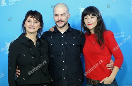 Canadian Actors Pierrette Robitaille (l-r) Marc-andre Grondin and French Actress Romane Bohringer Pose at a Photocall For the Movie 'Vic+flo Saw a Bear' ('vic+flo Ont Vu Un Ours') During the 63rd Annual Berlin International Film Festival in Berlin Germany 10 February 2013 the Movie is Presented in Competition at the Berlinale Germany Berlin