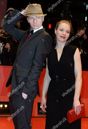 Stock Photo of German Scriptwriter Anna Brueggemann (r) and Director Dietrich Brueggemann (l) Arrive For the Closing and Awards Ceremony of the 64th Annual Berlin Filmáfestival in Berlin ágermany 15 February 2014 the Berlinale Festival Runs Until 16 February Germany Berlin