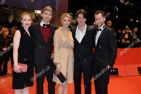 (l-r) German Actress Anna Brueggemann Director Dietrich Brueggemann Actress Franziska Weisz Producer Jochen Laube and Actor Florian Stetter Arrive For the Closing and Awards Ceremony of the 64th Annual Berlin Filmáfestival in Berlin ágermany 15 February 2014 the Berlinale Festival Runs Until 16 February Germany Berlin