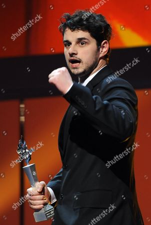 Stock Picture of Serbian Actor Nikola Rakocevic Holds His Award During the 'European Shooting Stars 2014' Award Ceremony at the 64th Annual Berlin Film Festival in Berlin Germany 10 February 2014 the Berlinale Runs From 06 to 16 February 2014 Germany Berlin