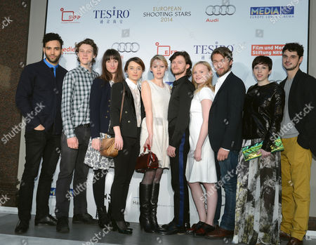 Europe's Best Young Actors (l-r) Marwan Kenzari (netherlands) George Mackay (great Britain) Danica Curcic (denmark) Cosmina Stratan (romania) Edda Magnason (sweden) Mateusz Kosziukiewicz (poland) Maria Dragus (germany) Jakob Oftebro (norway) Miriam Karlkvist (italy) Nikola Rakocevic (serbia) Pose For the Cameras at Hotel De Rome at the 64th Annual Berlin Film Festival in Berlin Germany 09 February 2014 Ten Yound Actors Will Be Introduced at This Year's European Shooting Stars 2014 Showcase at the 64th Berlin Film Festival Germany Berlin