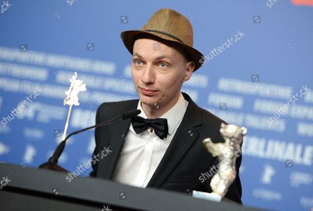 German Director Dietrich Brueggemann Attends a Press Conference After Receiving the Silver Bear Award For Best Script For 'Kreuzweg' (stations of the Cross) During the 64th Annual Berlin Filmáfestival in Berlin ágermany 15 February 2014 the Berlinale Festival Runs Until 16 February Germany Berlin