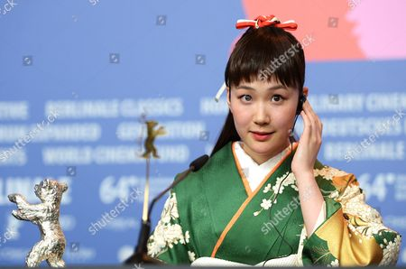 Japanese Actress Haru Kuroki Attends a Press Conference After Receiving the Silver Bear Award For Best Actress For 'Chiisai Ouchi' (the Littel House) During the 64th Annual Berlin Filmáfestival in Berlin ágermany 15 February 2014 the Berlinale Festival Runs Until 16 February Germany Berlin