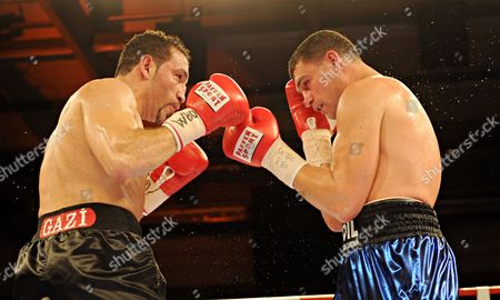 The Russian Cruiserweight Boxer Alexander Alekseev (r) and German Boxer Firat Arslan in Fight Eachother in Goeppingen Germany 11 May 2012 They Are Competing For the Cruiserweight Championship Germany Goeppingen
