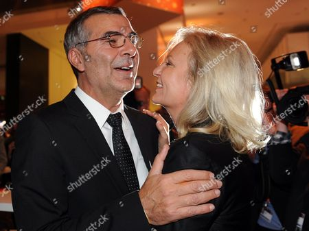 German Tv-presenter Sabine Christiansen and Husband Norbert Medus Attend the After-show Party of the Fundraising Event 'Ein Herz Fuer Kinder[ ('a Heart For Children') in Berlin Germany 17 December 2011 the German Television Channel Zdf and the Newspaper 'Bild' Collected Donations For Children's Charity Organisations in Germany and the Whole World Germany Berlin
