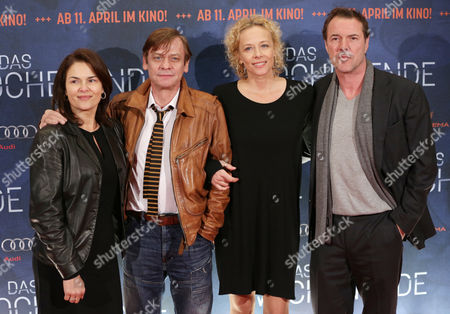 (l-r) German Actors Barbara Auer Sylvester Groth Katja Riemann and Sebastian Koch Attend the Premiere of 'Das Wochenende' (the Weekend) in Berlin Germany 04 April 2013 the Movie Will Be Released on 11 April in Germany Germany Berlin