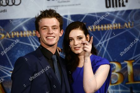 German Actors/cast Members Jannis Niewoehner (l) and Maria Ehrich Arrive For the Premiere of 'Sapphire Blue' in Cologne Germany 11 August 2014 the Movie Will Be Premiere in German Theatres on 14 August Germany Cologne