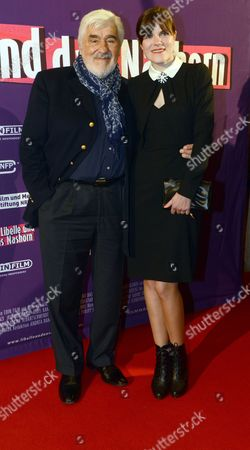German Actors Mario Adorf (l) and Fritzi Haberlandt Arrive For the Premiere of the Movie 'The Dragonfly and the Rhino' in Essen Germany 04 December 2012 Germany Essen