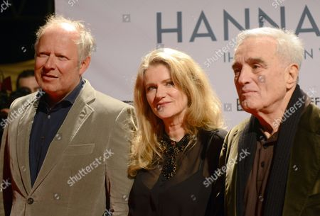 German Actress/ Cast Member Barbara Sukowa (c) and German Actor/cast Member Axel Milberg (l) Arrive For the Premiere 'Hannah Arendt' in Essen Germany 08 January 2013 the Movie Will Be Released in German Theaters in 10 January Germany Essen