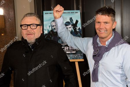 British Actor Ray Winstone (l) and the British Director Nick Love Pose During the Photocall 'The Sweeney' in Berlin Germany 29 January 2013 the Movie Will Be Released in German Cinemas on 28 February 2013 Germany Berlin