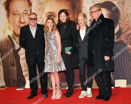 A Picture Made Available on 24 January 2014 Shows (l-r) British Director Brian Percival Canadian Actress Sophie Nelisse British Actress Emily Watson German Actors Nico Liersch and Ben Becker at the Premiere of 'The Book Thief' Held at the Zoo-palast Theater in Berlin Germany 23 January 2014 the Movie Will Be Released in German Theaters on 13 March 2014 Germany Berlin