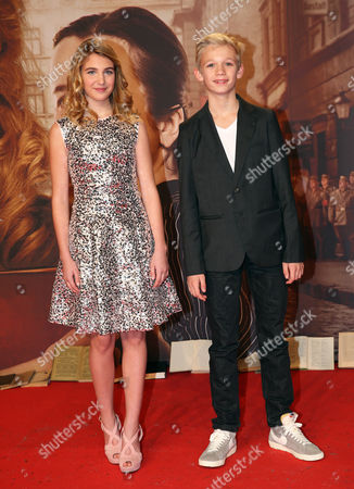 Stock Photo of A Picture Made Available on 24 January 2014 Shows Canadian Actress Sophie Nelisse (l) and German Actor Nico Liersch (r) at the Premiere of 'The Book Thief' Held at the Zoo-palast Theater in Berlin Germany 23 January 2014 the Movie Will Be Released in German Theaters on 13 March 2014 Germany Berlin