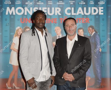 French Director Philippe De Chauveron and French Actor Noom Diawara (r) Arrive For the German Premiere of 'Monsieur Claude and His Daughters' at Kino International in Berlin Germany 23 July 2014 the Movie Will Be Released in German Theatres on 24 July Germany Berlin