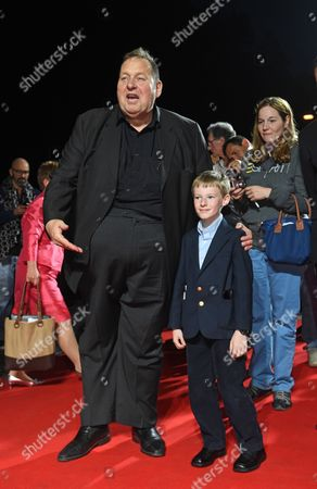 Canadian Actor/cast Member Kyle Catlett (r) and German Actor Ottfried Fischer (l) Pose at the Premiere of 'The Young and Prodigious T S Spivet' During the Opening Night of the Munich Film Festival in Munich Germany 27 June 2014 the Event Runs From 27 June to 05 July Germany Munich