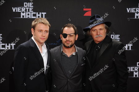 (l-r) Actors and Cast Members Max Riemelt Moritz Bleibtreu and Rade Serbedzija Arrive For the World Premiere of the Movie 'The Fourth Estate' at the Cinestar Movie Theater on Potsdamer Platz in Berlin Germany 01 March 2012 the Movie Will Be Released in German Theatres on 08 March 2012 Germany Berlin