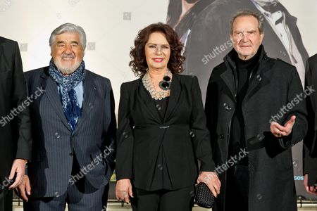 Stock Photo of (l-r) German Actor Mario Adorf Turkish Actress Hulya Kocyigit and German Filmmaker Edgar Reitz Attend the German-turkish Film Festival in Nuremberg Germany 13 March 2014 Adorf Presented His New Movie 'The Last Person' and Reitz Received the Honorary Prize of the Festival That Continues Until 23 March Germany Nuremberg