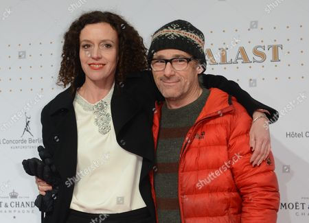German Actress Maria Schrader (l) and Swiss Director Dani Levy (r) Attend the Reopening Event of the Traditional Movie Theater 'Zoo Palast' in Berlin Germany 27 November 2013 the Cinema That was Built in 1957 Reopens After Extensive Renovation on 27 November Germany Berlin