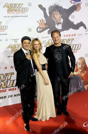 From (l-r) German Actor Comedian and Presenter Kaya Yanar German Model and Actress Birte Glang and German Actor Tom Gerhardt Arrive For the Premiere of the Movie 'Agent Ranjid Save the World' in Cologne Germany 17 October 2012 the Movie Will Be Released in German Theatres on 18 October 2012 Germany Cologne