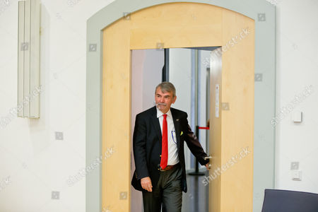 Stock Photo of Gustl Mollath Arrives at the Courtroom at the Regional Court of Regensburg Germany 14 August 2014 Mollath who was Kept in a Psychiatric Ward Against His Will For Years was Acquited Germany Regensburg