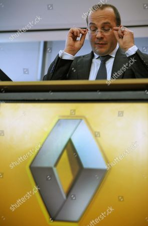 Renault Germany Chairman Achim Schaible Speaks at the Annual Press Conference in Duesseldorf Germany 03 January 2013 Renault Germany Presented Its 2012 Business Figures Germany Duesseldorf