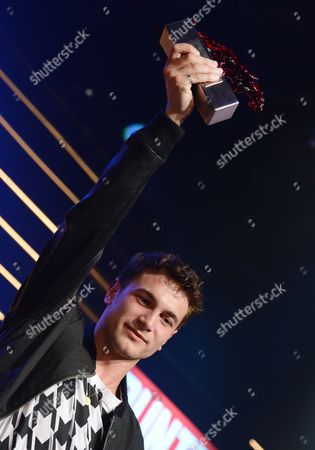 German Actor Samuel Schneider Holds His Best Young Actor Award During the New Faces Award Ceremony in Berlin Germany 08 May 2014 the Award Ceremony Held by Bunte Magazine Recognizes Talent in the Film Industry Germany Berlin