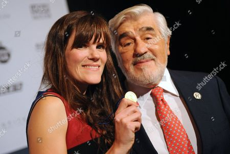 German Actors Fritzi Haberlandt (l) and Mario Adorf Pose at the Best Human Brands Awards Ceremony in Munich Germany 21 November 2013 Haberlandt Received the Best Newcomer Human Brand 2013 Award at the Ceremony; Adorf Delivered the Laudatory Speech Germany Munich