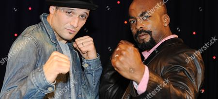 Actors Drew Sarich As Rocky (l) and Terence Archie As Apollo Pose For Pictures During a Media Preview in Hamburg Germany 18 October 2012 the Musical 'Rocky' Will Premiere at the Operettenhaus in Hamburg on 18 November 2012 Germany Hamburg