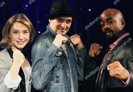 (l-r) Actors Wietske Van Tongern As Adrian Drew Sarich As Rocky and Terence Archie As Apollo Pose For Pictures During a Media Preview in Hamburg Germany 18 October 2012 the Musical 'Rocky' Will Premiere at the Operettenhaus in Hamburg on 18 November 2012 Germany Hamburg