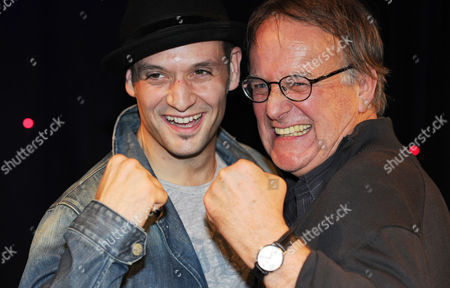 Stock Picture of Actors Drew Sarich As Rocky (l) and Uwe Dreves As Coach Mickey Pose For Pictures During a Media Preview in Hamburg Germany 18 October 2012 the Musical 'Rocky' Will Premiere at the Operettenhaus in Hamburg on 18 November 2012 Germany Hamburg