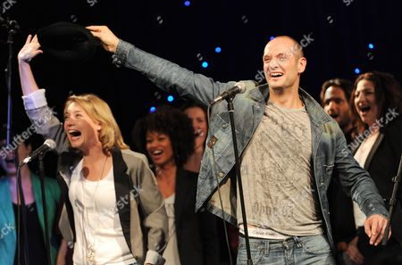 Actors Drew Sarich (r) As Rocky and Wietske Van Tongern As Adrian Pose For Pictures During a Media Preview in Hamburg Germany 18 October 2012 the Musical 'Rocky' Will Premiere at the Operettenhaus in Hamburg on 18 November 2012 Germany Hamburg