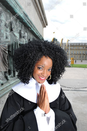 A Picture Made Available on 15 October 2012 Shows Musical Singer and Leading Actress in the Musical 'Sister Act' Zodwa Selele Posing on the Palace Square in Stuttgart Germany 04 October 2012 the Musical Will Premiere at the Stage Apollo Theatre in Stuttgart on 09 December Germany Stuttgart