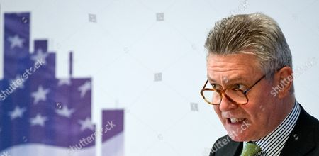 Eu Trade Commissioner Belgian Karel De Gucht Delivers a Speech at a Dialogue Event on the Transatlantic Free Trade Agreement Ttip Organized by the Federal Ministry of Economics in Berlin Germany 05 May 2014 Germany Berlin
