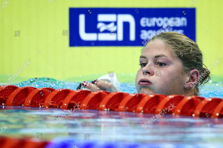 Lotte Friis of Denmark Reacts After the Women's 800m Freestyle Preliminaries at the 32nd Len European Swimming Championships 2014 at the Velodrom in Berlin Germany 20 August 2014 Germany Berlin