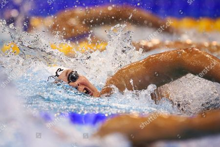 Lotte Friis of Denmark Competes in the Women's 400 Meters Freestyle Preliminaries at the 32nd Len European Swimming Championships 2014 at the Velodrom in Berlin Germany 24 August 2014 Germany Berlin