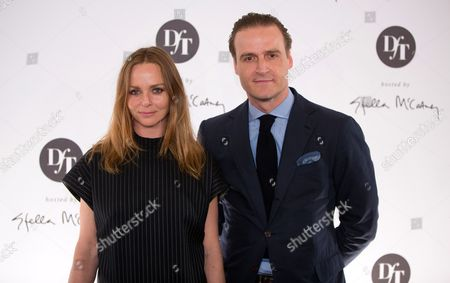 British Fashion Designer Stella Mccartney and Entrepreneur John Cloppenburg (r) Pose For Photographers As They Arrive For the Talent Award 'Designer For Tomorrow by Peek & Cloppenburg Duesseldorf' in Berlin Germany 02 May 2013 Germany Berlin