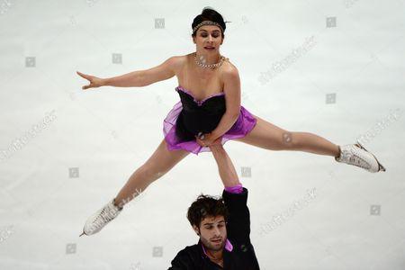 Lindsay Davis and Rockne Brubaker of the Usa Perform at the 45th Nebelhorn Trophy at the Ice Skating Center in Oberstdorf Germany 26 September 2013 Germany Oberstdorf