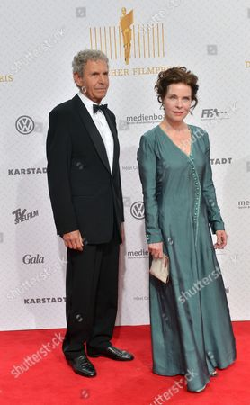 German Actress Gudrun Landgrebe and Her Husband Ulrich Von Nathusius Arrive For the Ceremony of the 63rd German Film Awards in Berlin Germany 26 April 2013 Germany Berlin